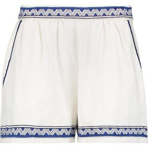 Maje embroidered cotton canvas shorts